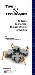 Networking Tips Booklet cover